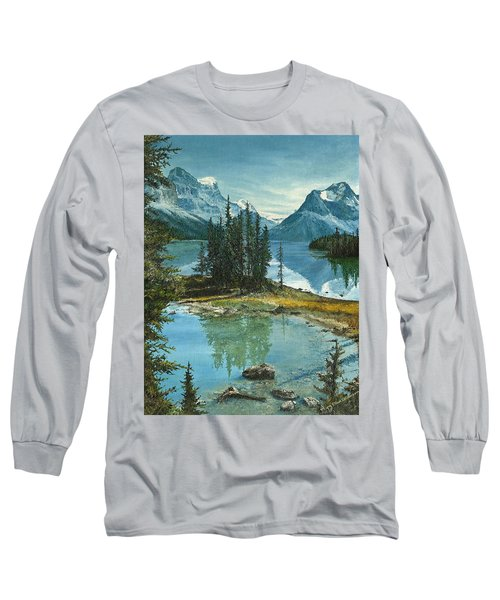 Mountain Island Sanctuary Long Sleeve T-Shirt by Mary Ellen Anderson