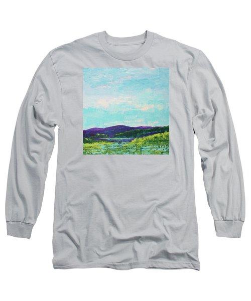 Mountain Lake Long Sleeve T-Shirt by Gail Kent