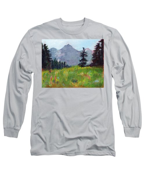 Mountain View Long Sleeve T-Shirt by C Sitton