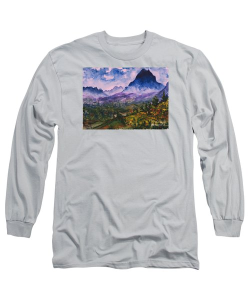 Mountains Of Pyrenees  Long Sleeve T-Shirt