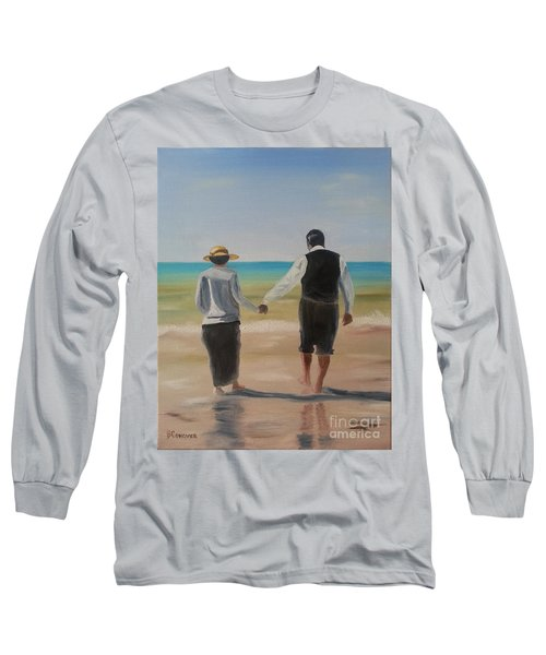 Mr. Carson And Mrs. Hughes Long Sleeve T-Shirt by Bev Conover