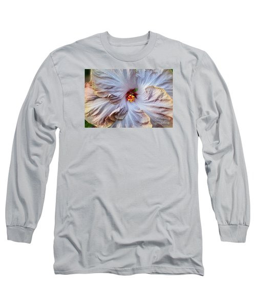 Muted Hibiscus Long Sleeve T-Shirt by Cindy Manero