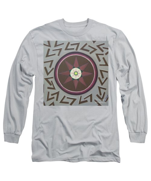 Long Sleeve T-Shirt featuring the painting My Yantra by Mini Arora