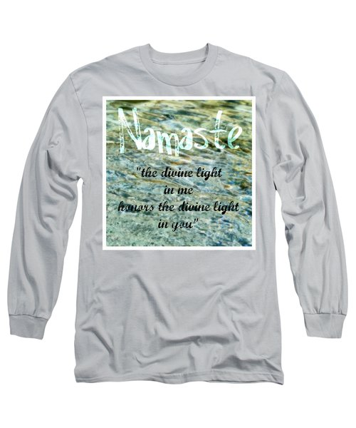 Namaste With Crystal Waters Long Sleeve T-Shirt