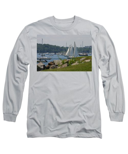 Long Sleeve T-Shirt featuring the photograph New England Seascape by Denyse Duhaime