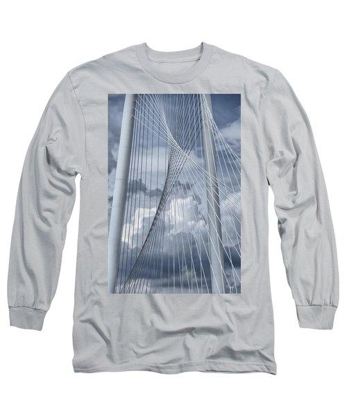 New Skyline Bridge Long Sleeve T-Shirt by Joan Carroll