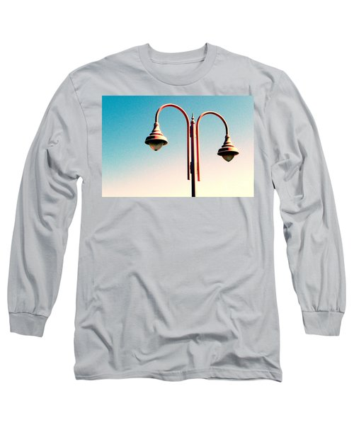 Beach Lamp Post Long Sleeve T-Shirt by Valerie Reeves