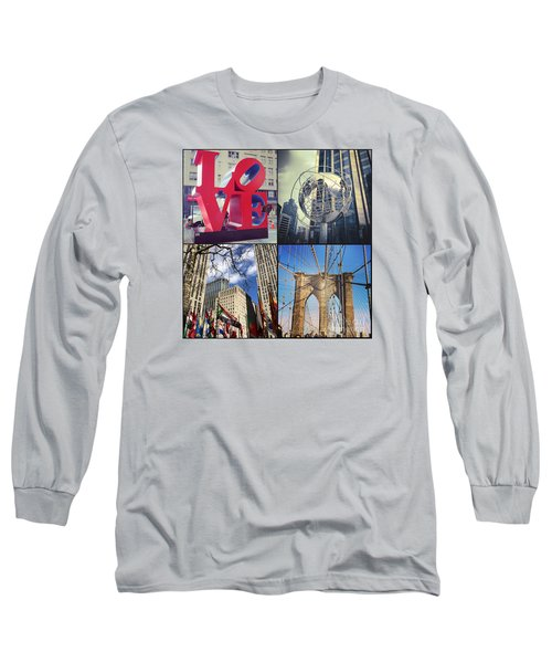 New York Sights  Long Sleeve T-Shirt by Kerri Farley
