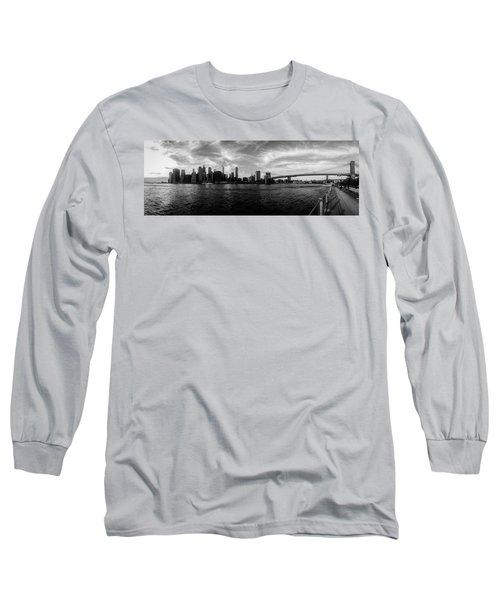 New York Skyline Long Sleeve T-Shirt by Nicklas Gustafsson