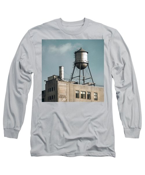 Long Sleeve T-Shirt featuring the photograph New York Water Towers 10 by Gary Heller