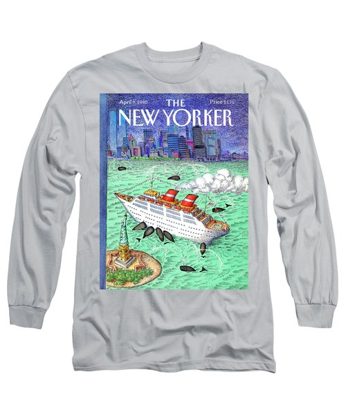 New Yorker April 9th, 1990 Long Sleeve T-Shirt