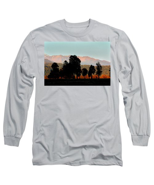 Long Sleeve T-Shirt featuring the photograph New Zealand Silhouette by Amanda Stadther