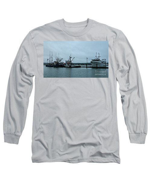 Newport Fishing Boats Long Sleeve T-Shirt by Chalet Roome-Rigdon