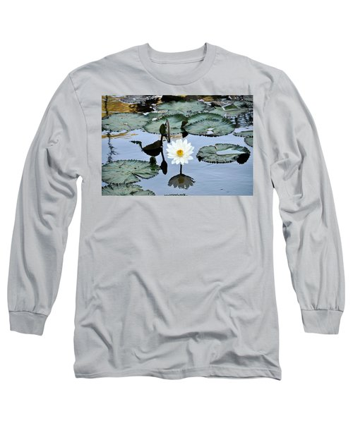 #night Blooming Water Lily Long Sleeve T-Shirt
