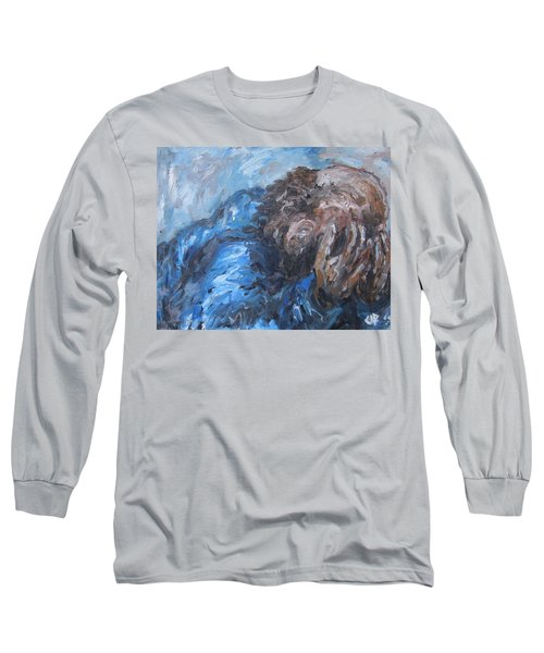 Long Sleeve T-Shirt featuring the painting No More by Cheryl Pettigrew