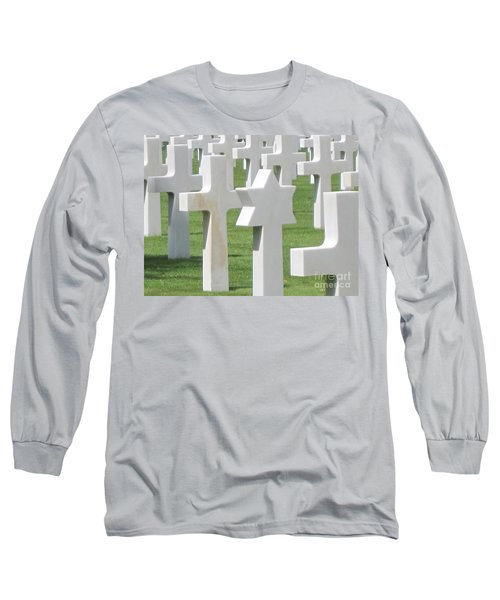 Normandy American Cemetery Long Sleeve T-Shirt by HEVi FineArt