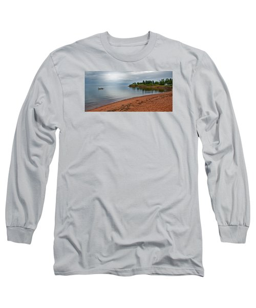 Northumberland Shore Nova Scotia Red Sand Beach Long Sleeve T-Shirt