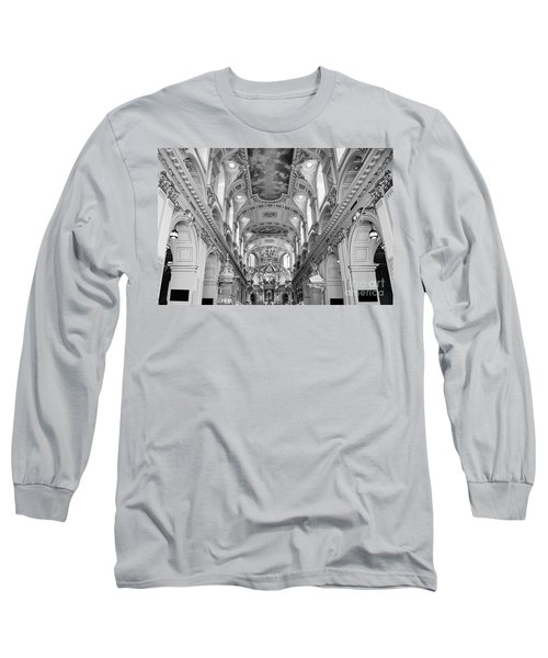 Notre-dame Basilica Long Sleeve T-Shirt by Bianca Nadeau