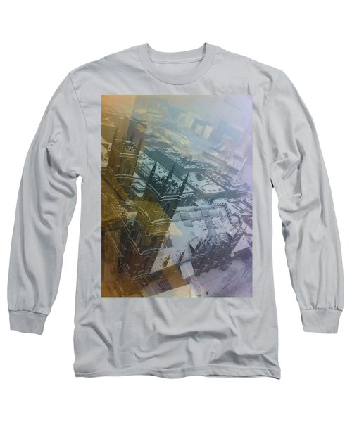 Notre Dame On The Vertical Long Sleeve T-Shirt by Valerie Rosen