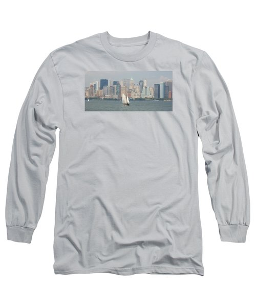 Ny City Skyline Long Sleeve T-Shirt