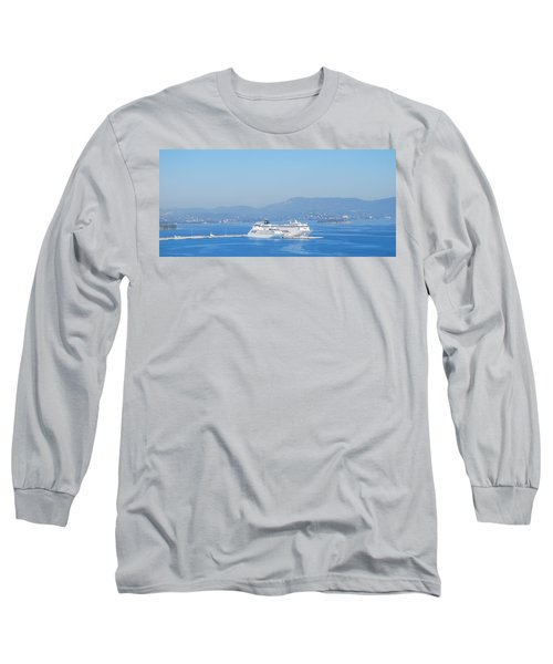 Ocean Liners In Corfu Long Sleeve T-Shirt
