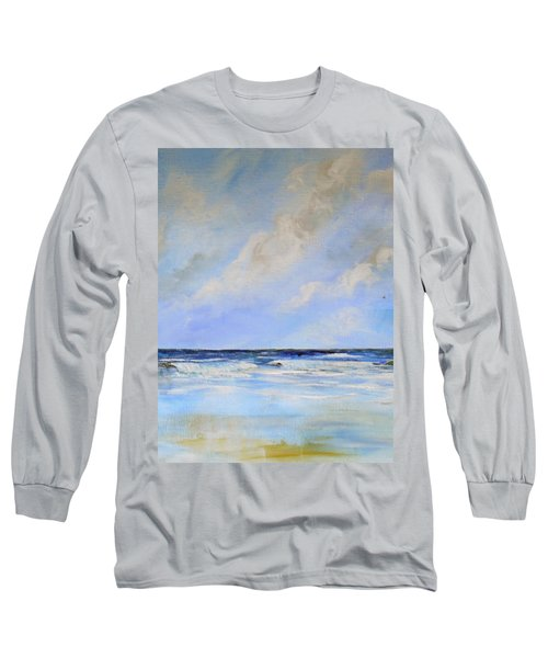 Long Sleeve T-Shirt featuring the painting Ocean View by Dorothy Maier