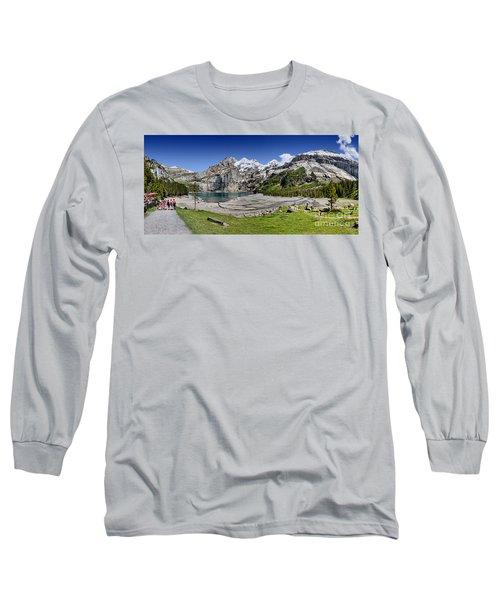 Oeschinen Lake Long Sleeve T-Shirt by Carsten Reisinger