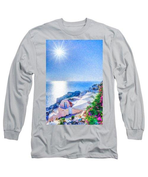 Oia Santorini Grk4178 Long Sleeve T-Shirt