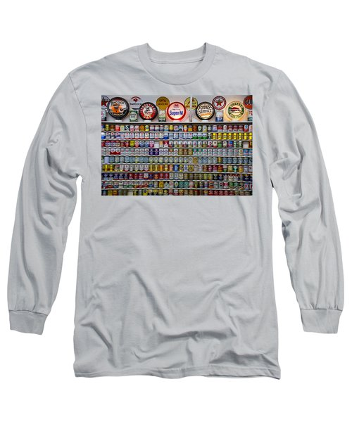 Oil Cans And Gas Signs Long Sleeve T-Shirt