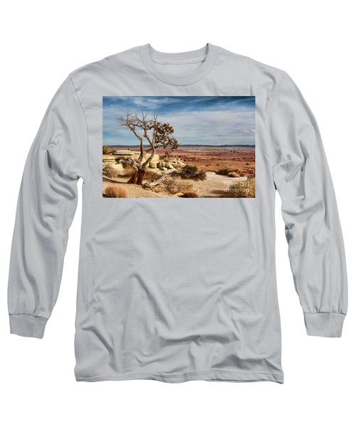 Long Sleeve T-Shirt featuring the photograph Old Desert Cypress Struggles To Survive by Michael Flood