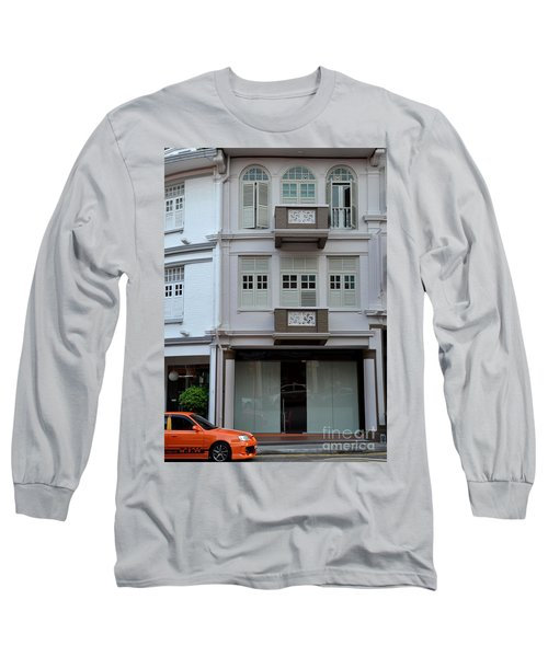Long Sleeve T-Shirt featuring the photograph Old House And Funky Orange Car by Imran Ahmed