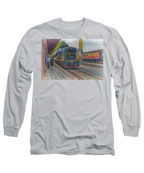 Old Town Sacramento Railroad Long Sleeve T-Shirt