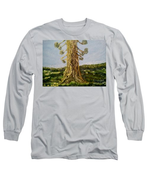 Old Tree In Spring Light Long Sleeve T-Shirt