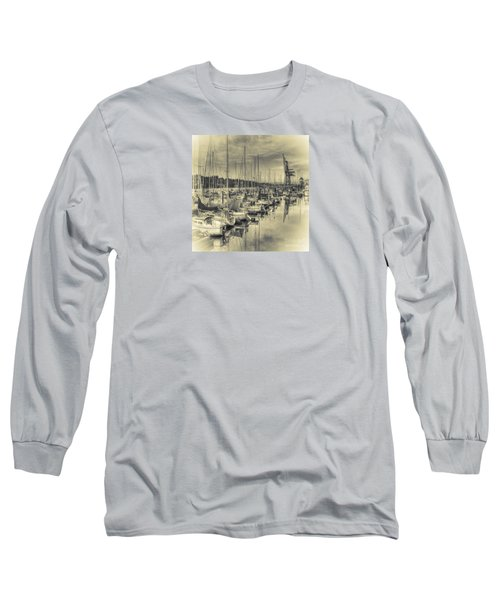 Long Sleeve T-Shirt featuring the photograph Olympia Marina 3 by Jean OKeeffe Macro Abundance Art