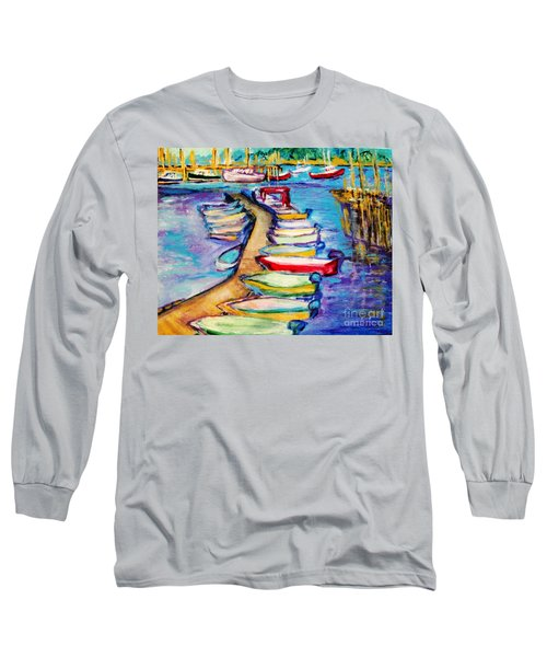 On The Boardwalk Long Sleeve T-Shirt by Helena Bebirian