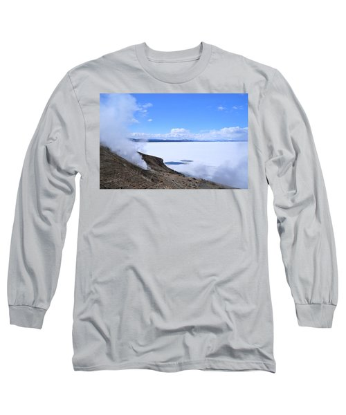Long Sleeve T-Shirt featuring the photograph On The Edge Of Lake Yellowstone by Michele Myers