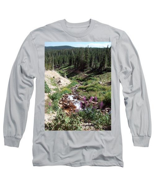 On Top Of The Continental Divide In The Rocky Mountains Long Sleeve T-Shirt