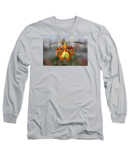 Oncidium Dancing Lady  Long Sleeve T-Shirt by Venetia Featherstone-Witty