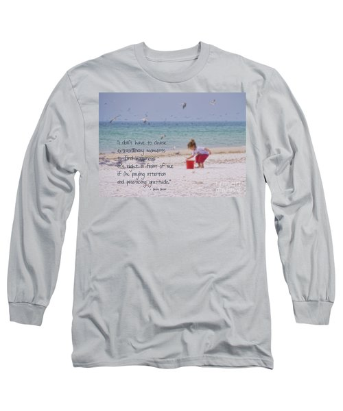 One Moment In Time Long Sleeve T-Shirt by Peggy Hughes