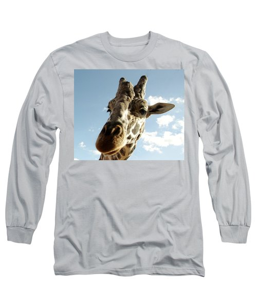 Out Of Africa  Reticulated Giraffe Long Sleeve T-Shirt