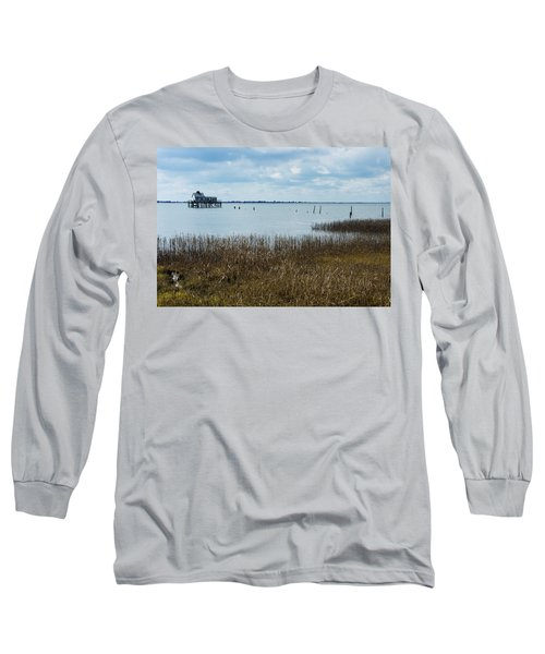 Oyster Shack And Tall Grass Long Sleeve T-Shirt