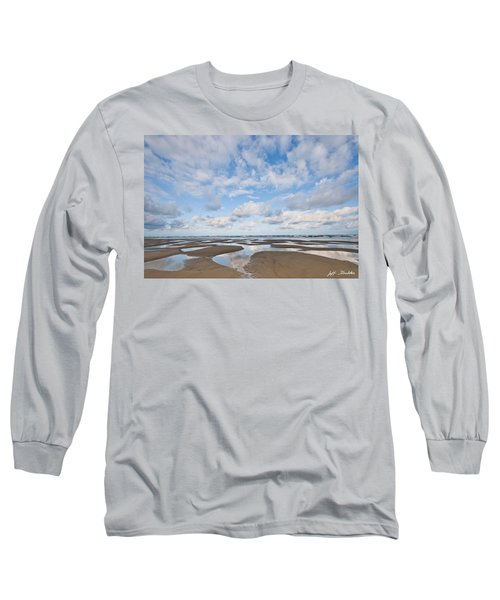 Pacific Ocean Beach At Low Tide Long Sleeve T-Shirt