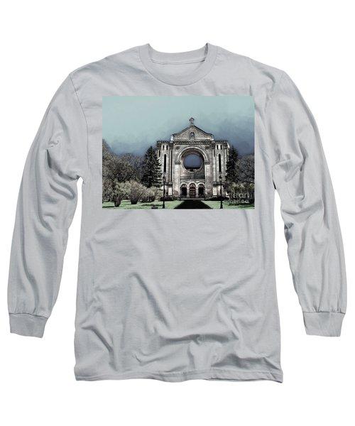 Long Sleeve T-Shirt featuring the digital art Painted Basilica 2 by Teresa Zieba