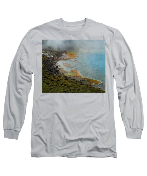 Long Sleeve T-Shirt featuring the photograph Painted Pool Of Yellowstone by Michele Myers