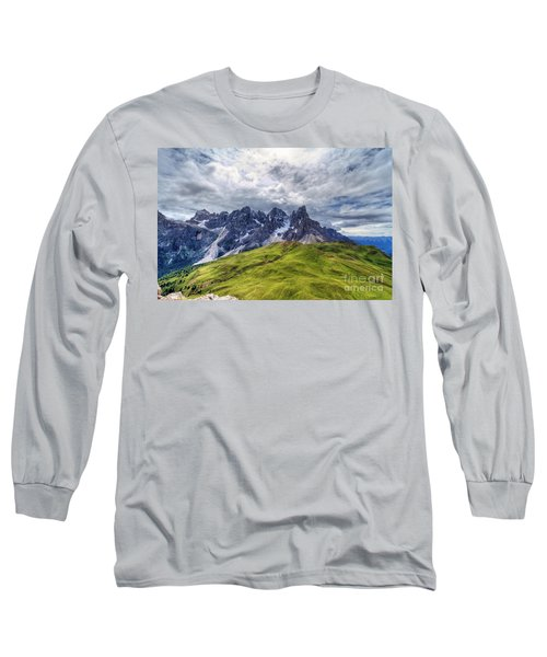 Long Sleeve T-Shirt featuring the photograph Pale San Martino - Hdr by Antonio Scarpi