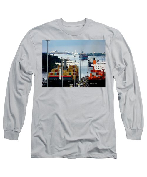 Panama Express Long Sleeve T-Shirt by Karen Wiles