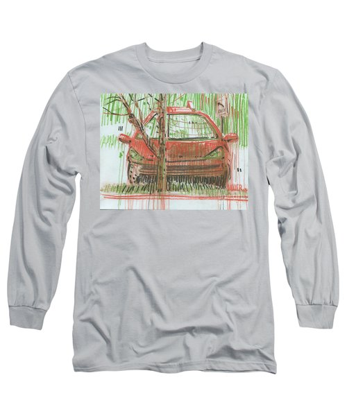 Long Sleeve T-Shirt featuring the painting Papa John's by Donald Maier