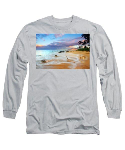Paradise Dawn Long Sleeve T-Shirt by Mike  Dawson