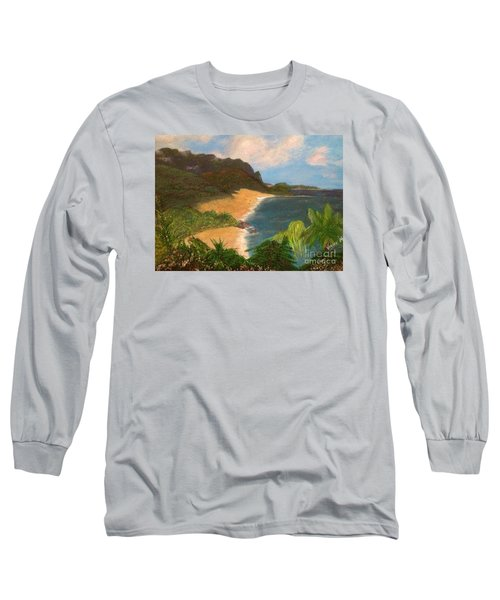 Long Sleeve T-Shirt featuring the painting Paradise by Vanessa Palomino