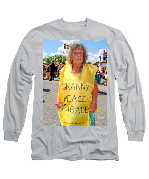 Long Sleeve T-Shirt featuring the photograph Peace Granny by Ed Weidman